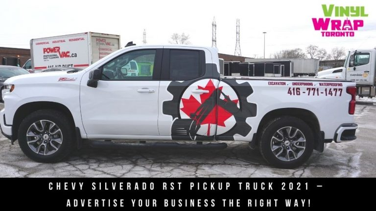 Chevy Silverado RST - Pickup Truck -2021 – - Advertise your business - Toronto - Decals - Commercial Decals - banner