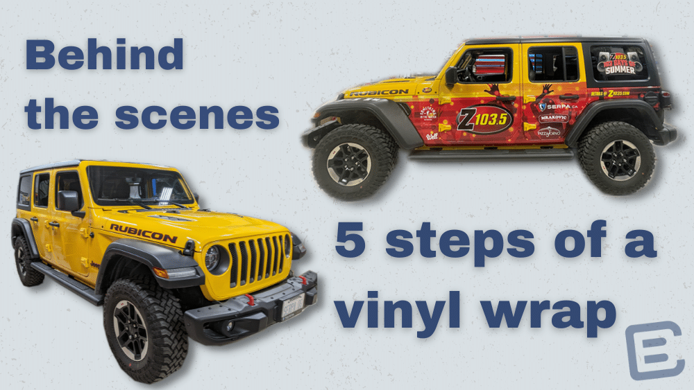 5 steps of a wrap title image